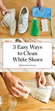 , 3 easy ways to clean your white shoes to make them look like new , How To Clean White Shoes apartment therapy. Clean Tennis Shoes, White Tennis Shoes, White Nike Shoes, Clean Shoes, White Nikes, Shoe Cleaner Diy, White Shoe Cleaner, Diy Cleaners, Clean White Leather Shoes