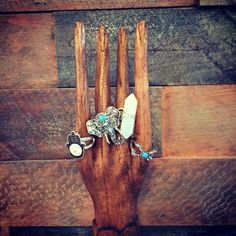 Put your hands up in the air, it's the weekend  Wooden hand ring holder & boho rings all available instore & online ✌ #saintboutique #middlesbrough #bohemian #boutique #clothing #accessories #jewellery #footwear #homeware #boho #gyspy #online #onlineshopping #instadaily #instafashion #localbusinesses #support #bohojewelry #gypsystyle #aotd #bohemia #bohostyle #jewellerydisplay #elephant #weekend #crystal