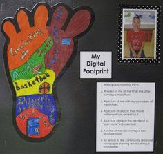 Tales from a Tidy Teacher: Digital Citizenship - creating our digital footprint activity