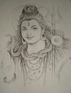 sketches of shiv parvati Pencil Drawing Pictures, Pencil Sketches Easy, Art Drawings Sketches, Pencil Drawings, Abstract Horse Painting, Sketch Painting, Mural Painting, Shiva Art, Krishna Art