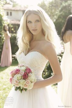 strapless tulle ball gown wedding dress