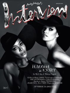 Supermodels Naomi Campbell & Kate Moss for Interview Russia,  Jan 2013