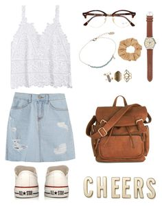 Untitled #11 by frontiersyndra on Polyvore featuring polyvore fashion style Converse Kate Spade J.Crew Wet Seal Topshop Ray-Ban clothing