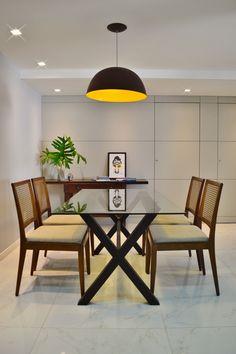 Jantar | Projeto Unio Arquitetura #unioarquitetura Home Office, Corner Desk, Conference Room, Dining Table, Photo And Video, 81, Furniture, Instagram, Facebook