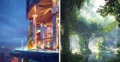 Take A Look Inside The World's First Hotel With It's Own Rainforest | Bored…