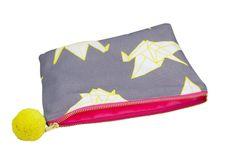 Origami cranes wash bag