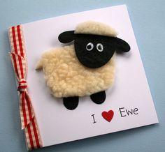 Handmade Personalised Sheep 'I Love Ewe' Valentines Card | eBay UK | eBay.co.uk