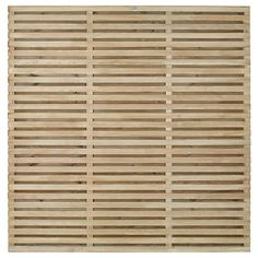 Forest Garden Contemporary Double Slatted Fence Panel - x Fence Panels Uk, Slatted Fence Panels, Privacy Panels, Timber Slats, Timber Fencing, Contemporary Fence Panels, Garden Ideas Uk, Garden Projects
