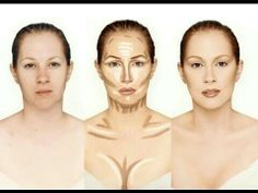 With these makeup tricks of contouring and highlighting, is just about giving a more angular look to the face with the help of makeup. Make Up Contouring, Contour Makeup, Contouring And Highlighting, Skin Makeup, Contouring Tutorial, Contouring Guide, Body Contouring, How To Contour, Contouring Makeup