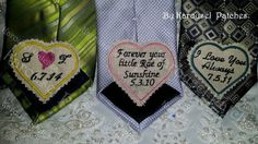 Rustic Necktie Patch TRIO. Embroidered Tie by KarouselPatches, $58.00