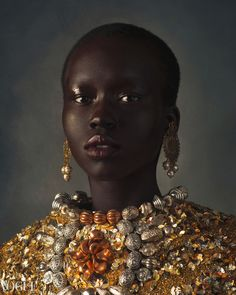 """divinebeauties: """"'ROYALTY' Nyabel Gatkuoth by Dave Hynes for Vogue Italia December """" Black Girl Art, Black Women Art, Black Girl Magic, Black Girls, Beautiful Dark Skinned Women, Beautiful Black Women, Beautiful People, Dark Beauty, Beauty Full"""