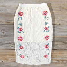 Thron Valley Pencil Skirt, Sweet Lace Pencil Skirts from Spool 72.