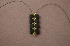 A Free and Fancy Tile Bead Bracelet Beading Pattern: Add the Remaining Tila Beads...6 of 14