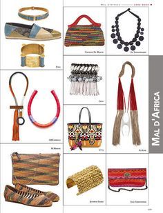 Mal d'Africa: Inge Christopher Snakeskin IRINA Clutch in Pink Multi (bottom right) in the latest issue of Collezioni Accessori Italy