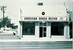 The First Ever American Honda Storefront