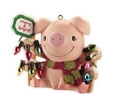 10 Adorable Christmas Ornaments for Pig Lovers