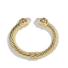 Renaissance Bracelet with Diamonds in 18K Gold, 10mm