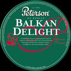label pipe tobacco Peterson Balkan Delight