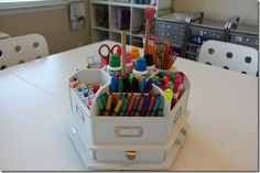 LOVE this little organizer from Ikea...but also love this mom's homeschool classroom.  It is the bomb!!!