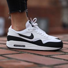 Nike Air Max 1 Essential Black + White The Nike Air Max 1 Essential Women's Shoe is made with premium materials for style and durability, plus iconic Nike Air cushioning for comfort and impact protection.   Women's size 8.   NEW in box (no lid) Nike Shoes Sneakers