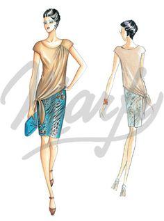 Marfy: Model 3104 | Sewing Pattern Shirts / Tunic