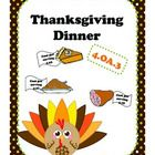 Students have to create a thanksgiving dinner and stay within their budget. My students LOVED this activity!!!!