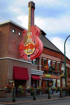 Hard Rock--Gatlinburg, TN Located near Traffic light #3 where the Parkway forks at Rte. 321.  Public parking garage across the street.