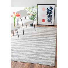 nuLOOM Contemporary Waves Grey Rug  (8'6 x 11'6) | Overstock.com Shopping - The Best Deals on 7x9 - 10x14 Rugs