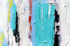 2015-06-25 - Working on a new painting - Art by Lønfeldt - original abstract painting, modern textured art, colorful
