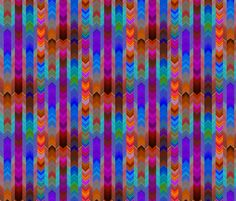 CHEVRONS BLUE SKY FIRE AUTUMN fabric by paysmage on Spoonflower - custom fabric