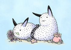 The coloured version of this: amurderofcrowws.deviantart.com… I should note, these are extra cute versions of the Jorunna parva, or more affectionately called the Sea Bunnies. >...