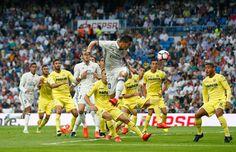 James Rodríguez in action during the La Liga match between Real Madrid CF and Villarreal CF at Santiago Bernabeu stadium on September 21, 2016 in Madrid, Spain.