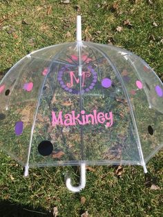 Monogrammed umbrella, adult & child size, personalized Umbrella, great gift Monogram Umbrella, clear dome, bubble