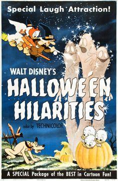 """walt disney's """"halloween hilarities"""" poster"""