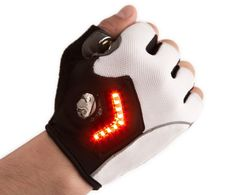 Bike gloves that signal direction.