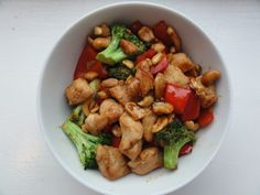 Honey Cashew Chicken recipe for a healthy family dinner