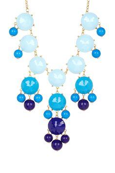 Ombre Blue Bubble Dot Necklace