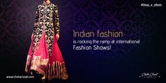 We at team Chota Closet, a name brand among the glitterati of online shop handmade products decided to look at a few shows of international fashion exhibitions in the recent past, to gloat over with some pride for our own heritage...