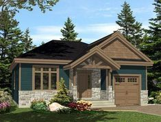House Plan 48292 Plan with 1196 Sq Ft 2 Bedrooms 1 Bathrooms 1 Car Garage Cottage House Plans, Bedroom House Plans, Country House Plans, Best House Plans, Tiny House Plans, Cottage Homes, House Floor Plans, Small House Plans Under 1000 Sq Ft, Garage House Plans