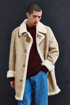 UO Faux Shearling Barn Coat - Urban Outfitters