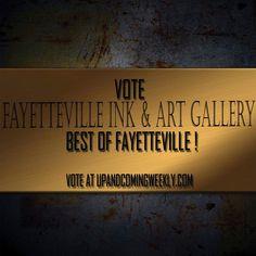 http://uandc.brainboxdev.com/   Please Vote   Fayetteville Ink & Art Gallery -Best Tattoos & Piercings -Best Art Gallery