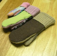 Mittens from old sweaters