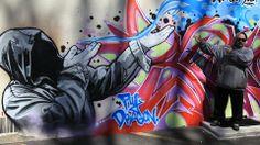 Graffiti mural in Elmwood Park
