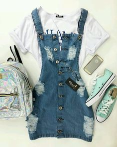 Teenager Outfits - Welcome Pikide Cute Summer Outfits, Cute Casual Outfits, Pretty Outfits, Stylish Outfits, Casual Summer, Casual Dressy, Amazing Outfits, Hipster Outfits, Casual Attire