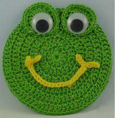 Critter Frog Coaster [FP204] - $0.00 : Maggie Weldon, Free Crochet Patterns