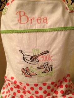 cute on an Apron.  I made this for my daughter