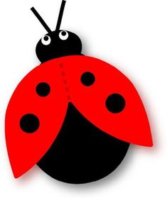 Discover recipes, home ideas, style inspiration and other ideas to try. Felt Crafts, Diy And Crafts, Crafts For Kids, Arts And Crafts, Lady Bug, Kirigami, Rakhi Cards, Ladybug Crafts, Class Decoration