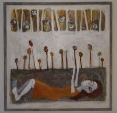 Me and novita collection(1) Artist:Sharzad Alavi mixed media on canvas