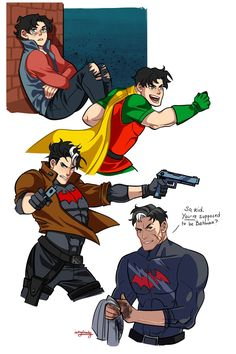 Older bat bros look awesome specially jay too bad they don't do more art on them