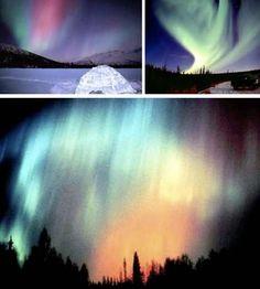 La aurora boreal, una exhibición natural de luces del Polo Norte  Aurora…